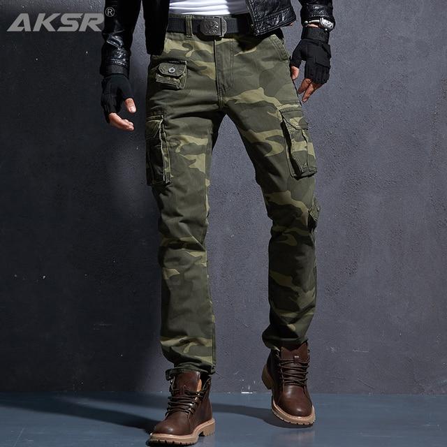 Aksr Mannen Mode Casual Katoenen Cargo Broek Grote Maat Flexibel Tactische Militaire Camo Broek Kaki Broek Man Broek Joggers