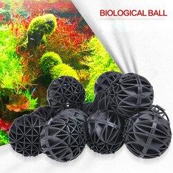 100 sztuk/zestaw akwaria akcesoria 16/26mm biologiczne kule Bio akwarium staw ryby Nano zbiornik Wet Dry kanister wkład filtracyjny czarny