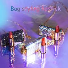 New Arrival Shoulder bags lipstick makeup beauty matte lipstick long lasting tint lips cosmetics lip stick make up red batom(China)