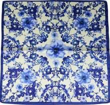 Bufanda cuadrada pequeña antigua, pañuelo de seda de imitación de seda de estilo nacional, elegante
