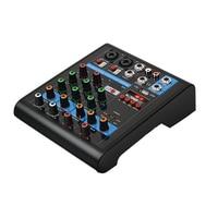 4 Channels Audio Party Professional Bluetooth Mini Mixer Stereo Karaoke Sound Studio KTV Live USB Portable Mixing Console