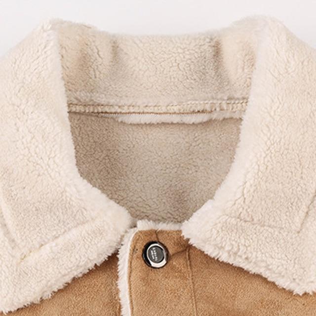 Leather & Fleece Biker Jacket 5