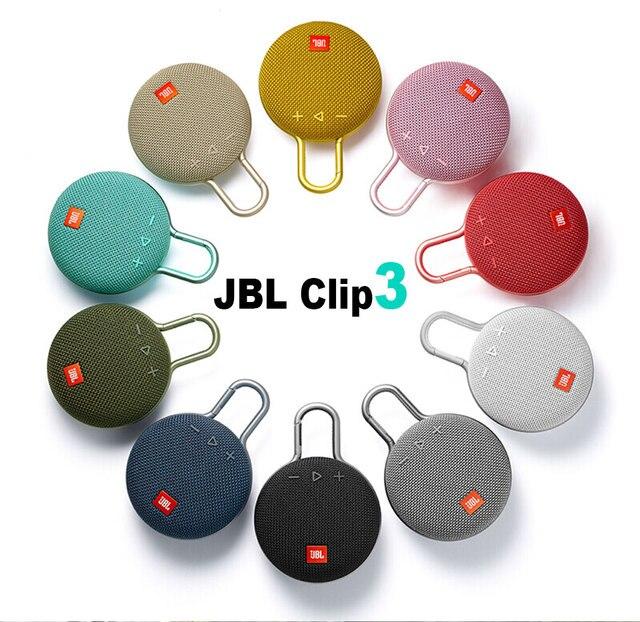 Jbl clipe 3 alto-falante sem fio bluetooth ipx7 à prova dwaterproof água esportes alto-falante portátil ao ar livre com microfone 2