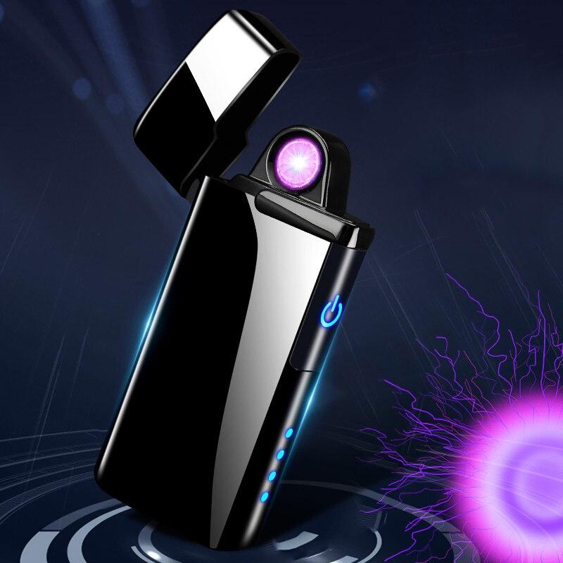Neue Doppel Plasma Arc Leichter Winddicht Elektronische USB Aufladen Zigarette Rauchen Elektrische Leichter-in Zigarette Zubehör aus Heim und Garten bei