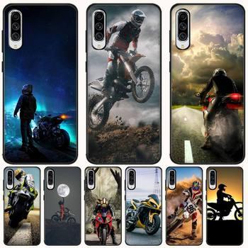 Funda de teléfono de carcasa suave negra para Moto Cross, Capa para Samsung A10 20 30 40 50 70 10S 20S 2 Core C8 A30S A50S A7 8 9