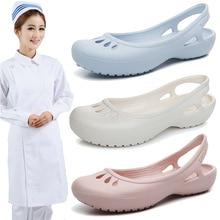 Lightweight Skidproof Summer Crocs Female Flat Sandals Nurse Shoes Medical Shoes