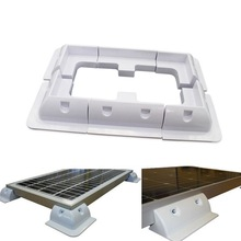 6pcs/set Solar Panel Stand White Corner Mounting Bracket For RV Marine Flat Roof Camping Van And Caravan Car Accessories