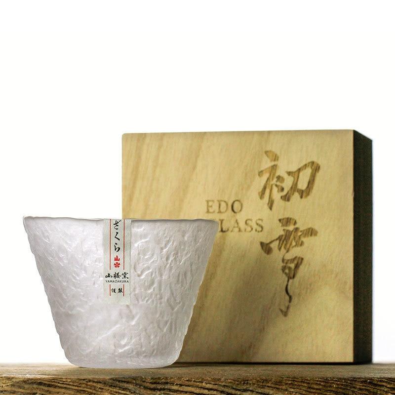 Japanese Style Handmade Hazy Snow Crystal Brandy Snifters Whiskey Shot Glass Hammer Wine Glasses Cup Whisky Tumbler Sake Bowl