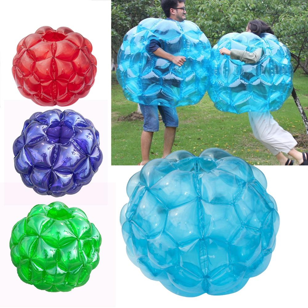90CM PVC Inflatable Bubble Ball Outdoor Activity Body Collision Ball For Kids Funny Playing Children's Bubble Ball Movement