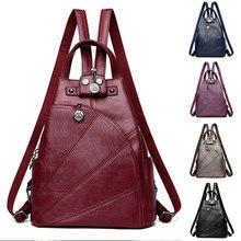 Backpacks Travel-Bag Anti-Theft-Shoulder-Bag Female Women Fashion School-Bags Vintage