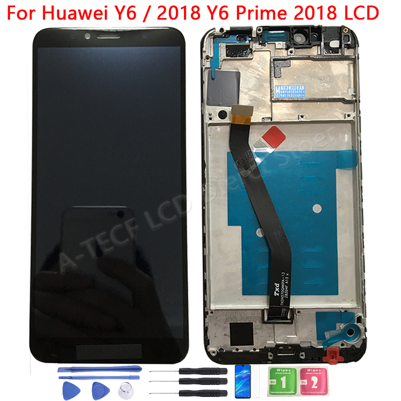 Original Y6 2018 LCD For Huawei Y6 Prime 2018 LCD Display Touch Screen With Frame Y6 prime 2018 ATU L11 L21 L22 LX1 LX3 L31 L42