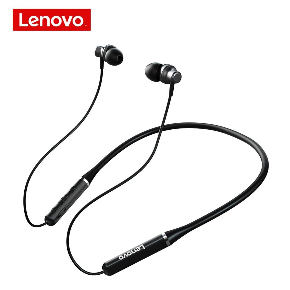 Lenovo Drahtlose Kopfhörer HE05 PRO Bluetooth 5,0 Magnetische Neckband Headset IPX5 Wasserdichte In-Ohr Sport Ohrhörer mit Mikrofon