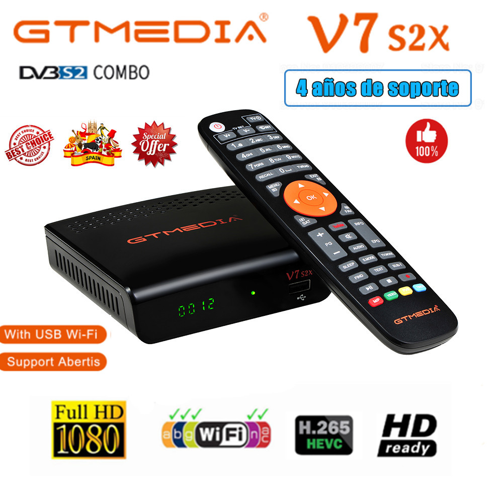 GTMEDIA V7S2X HD With USB WIFI FTA DVB S2 S2X TV Receiver gtmedia v7s hd power by freesat Network Sharing Decoder Receptor