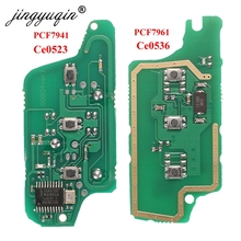 Jingyuqin For peugeot 407 407 307 308 607 Citroen C2 C3 C4 C5 ASK/FSK لوحة دوائر إلكترونية بمفتاح بعيد 3 أزرار CE0523 Ce0536