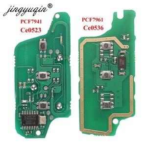 Image 1 - Jingyuqin для peugeot 407 407 307 308 607 Citroen C2 C3 C4 C5 ASK/FSK дистанционный ключ электронная плата 3 кнопки CE0523 Ce0536