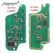 Jingyuqin para peugeot 407, 407, 307, 308, 607 Citroen C2 C3 C4 C5/FSK remoto clave placa de circuito electrónico botón 3 CE0523 Ce0536