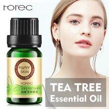 ROREC эфирное масло чайного дерева лечение акне средство для удаления угрей против шрамов и пятен контроль масла сужение пор уход за кожей лица
