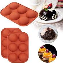 Yarım küre silikon kalıpları Bakeware kek dekorasyon araçları puding jöle çikolata fondan kalıp top şekli bisküvi aracı