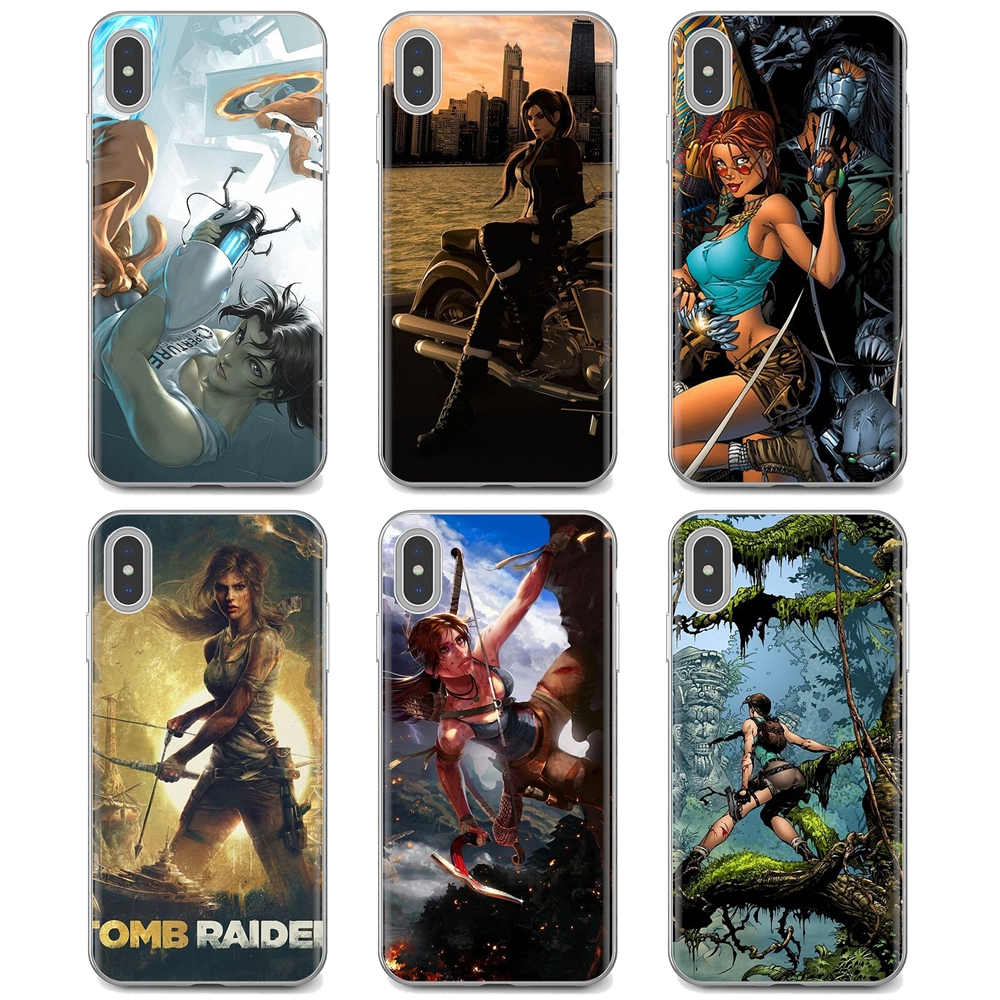 Soft Case Cover Lara Croft Tomb Raider game Print For iPhone iPod Touch 11 12 Pro 4 4S 5 5S SE 5C 6 6S 7 8 X XR XS Plus Max 2020
