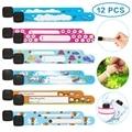 12 шт./компл., детский браслет для путешествий, защита от потери, водонепроницаемый регулируемый браслет для детей