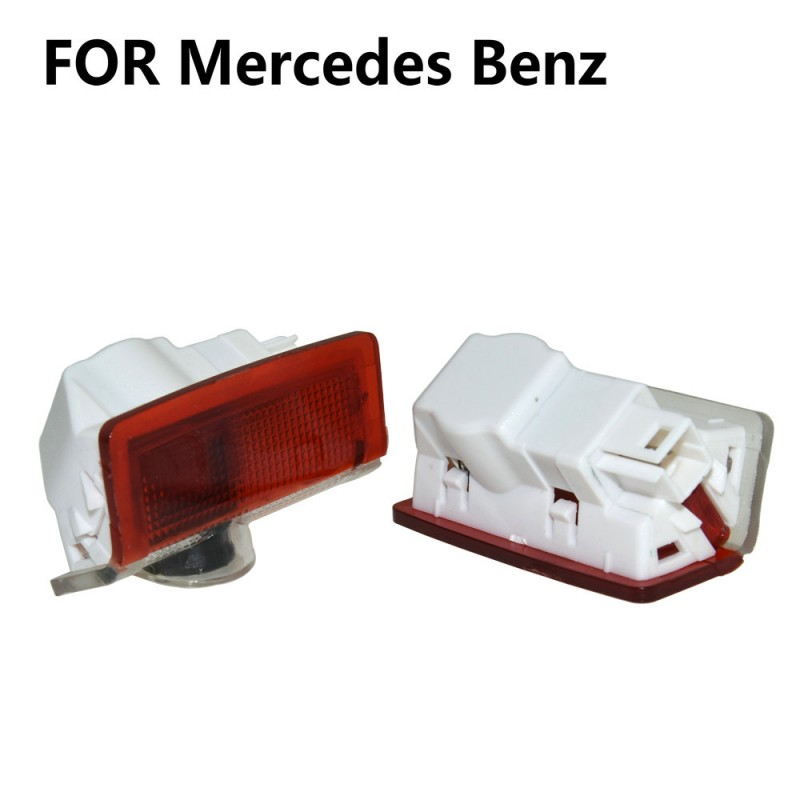 2X Led Car Door Light Projector Logo Welcome Light For Mercedes Benz W205 W177 V177 W247 W176 W246 W212 W213 AMG GL X166 M W166 image