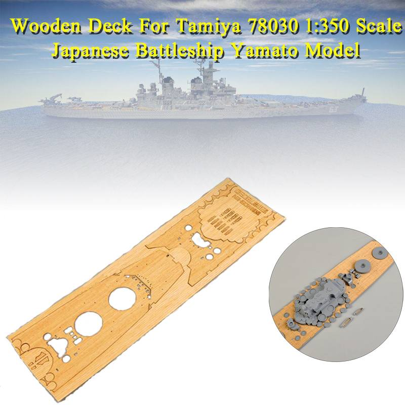 Wooden Deck For Tamiya 78030 1:350 Scale Japanese Battleship Yamato Model CY350006 Replacement Accessories Free Shipping