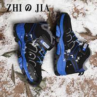 Botas de nieve de invierno para niños, calzado deportivo para niños, zapatos impermeables, zapatillas de deporte, nuevas de cuero, 2020