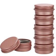 100Pcs 5g 10g 15g 30g Empty Mini Rose gold Aluminum Cream Jar Pot Nail Art Makeup Lip Gloss Empty Cosmetic Metal Tins Containers