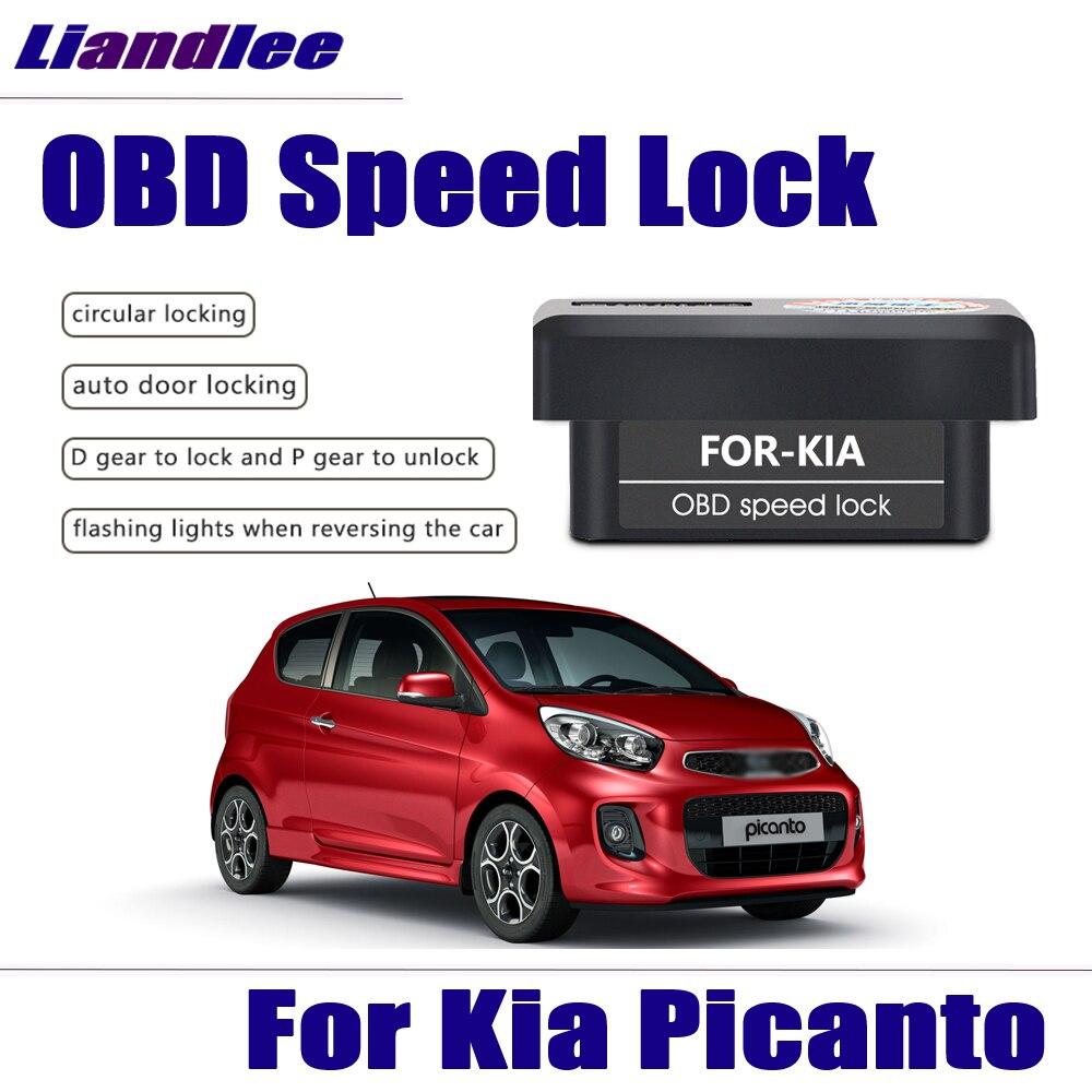 Liandlee New Smart Auto OBD Speed Lock For Kia Picanto 2013 2014 2015 2016 2017 Profession Door Lock Device Car Accessories