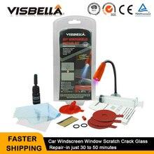 VISBELLA Kit de reparación de parabrisas, reparación de ventana de coche, pulido, herramienta de renovación de vidrio, reparación de arañazos automática, grieta de Chip de restauración