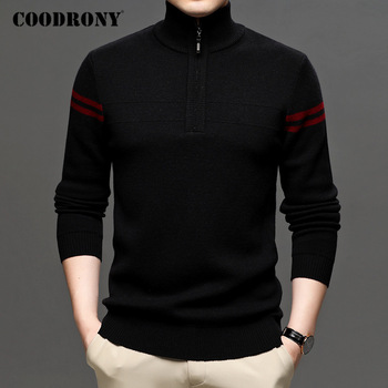 COODRONY Brand High Quality Merino Wool Sweaters Autumn Winter Thick Warm Turtleneck Sweater Men Fashion Casual Pullover C3036 coodrony brand sweater men zipper turtleneck cardigan men clothing autumn winter thick warm 100% merino wool sweater coat p3026