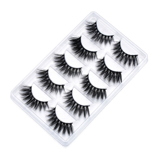 5 Pairs SKONHED 13 mm Single Styles Mixed Wispies Fluffy Eyelashes Natural Long Mink Hair False Eyelashes Handmade Eye Lashes