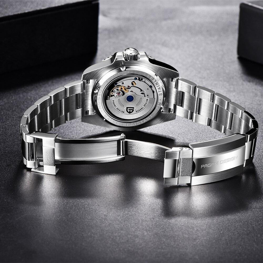 2020 New PAGANI DESIGN Luxury Men GMT Automatic Machinery Watch 40MM Ceramic bezel Jubilee Strap Sapphire 100M Waterproof Clock