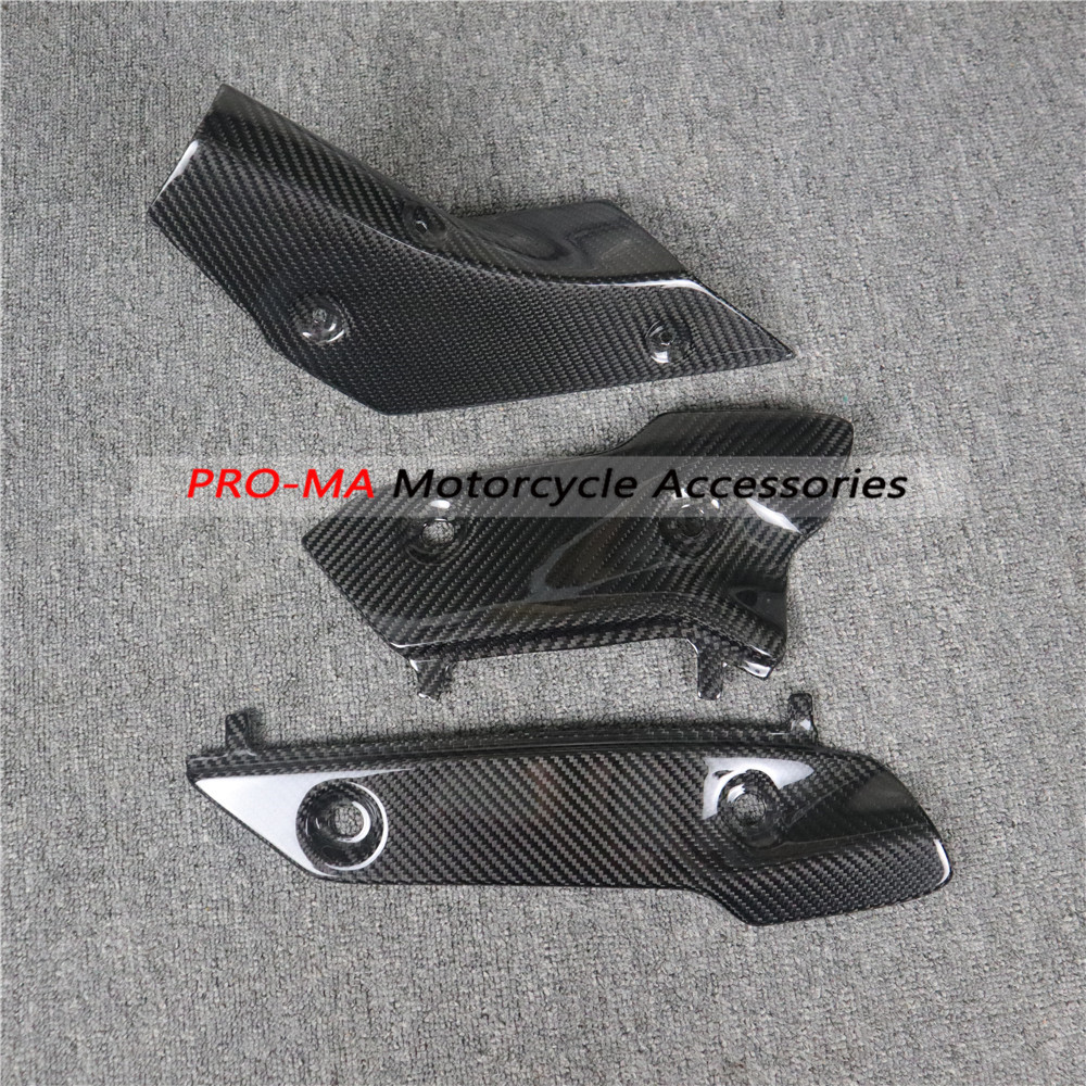 Exhaust Cover In Carbon Fiber For Yamaha YZF-R1 R1M R1S 2015 2016 2017 2018 2019