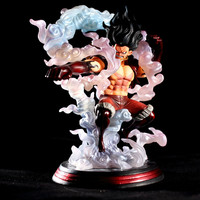 30cm Big Fist King of Artist Luffy Gear 4 The Snake Man PVC Collection Toy Anime One Piece Monkey D Luffy Action Figure Snakeman