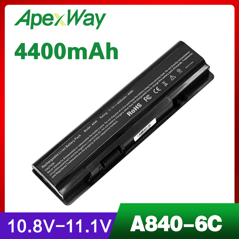 4400mAh Laptop Battery For Dell Vostro 1014 1015 A840 A860 312-0818 451-10673 F286H F287F F287H G069H R988H