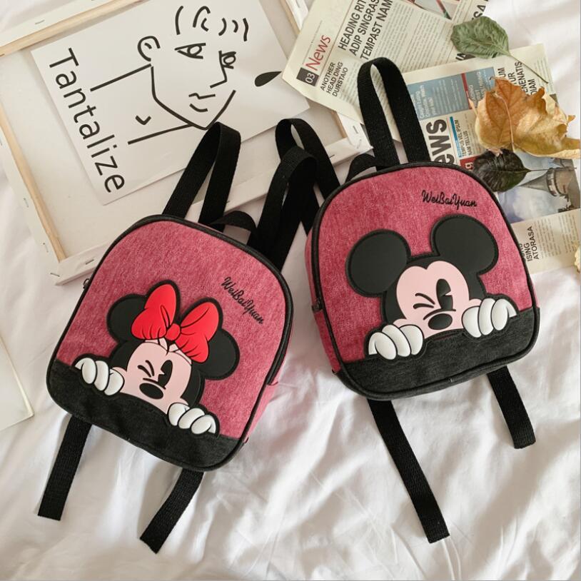 2020 New Fashion Kids Cartoon Backpack For Baby Girls Boys Minnie Mickey Children Schoolbag For Kindergarten