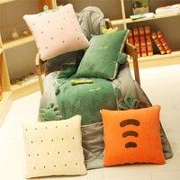 Coushin Fruit Pillow+Blanket Suit 4 Style Cartoon Cushion Suitable Office Or Home Decoration Super Soft Crystal Velvet Pillow