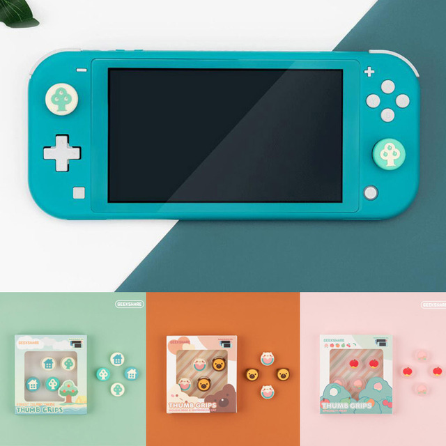 Animal Crossing Small Tree And Tree House Thumb Stick Grip Cap Joystick Cover For Nintendo Switch Lite Joy Con Controller Case