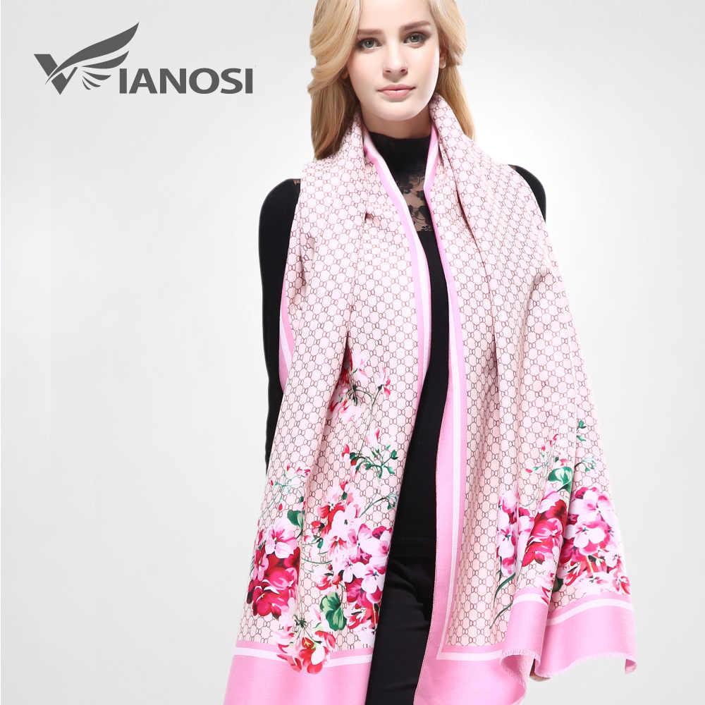 [VIANOSI] 2019 الدافئة الشتاء الكشمير وشاح المرأة الصوف باندانا منقوشة الشتاء شالات و الأوشحة التفاف