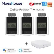Zigbee Smart Thermostatic Radiator Valve Controller Thermostat Heater Temperature 2MQTT Setup Works with Alexa Google Home