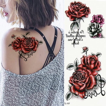 10sheets Tattoo Set Brand New Body Art Tattoo Temporary 3d Rose Butterfly Colorful Body Arm Sexy Flash Henna Tattoos Stickers Buy At The Price Of 3 79 In Aliexpress Com Imall Com
