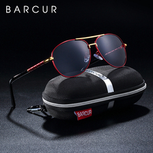 BARCUR Vintage Polarized Sunglasses for Men