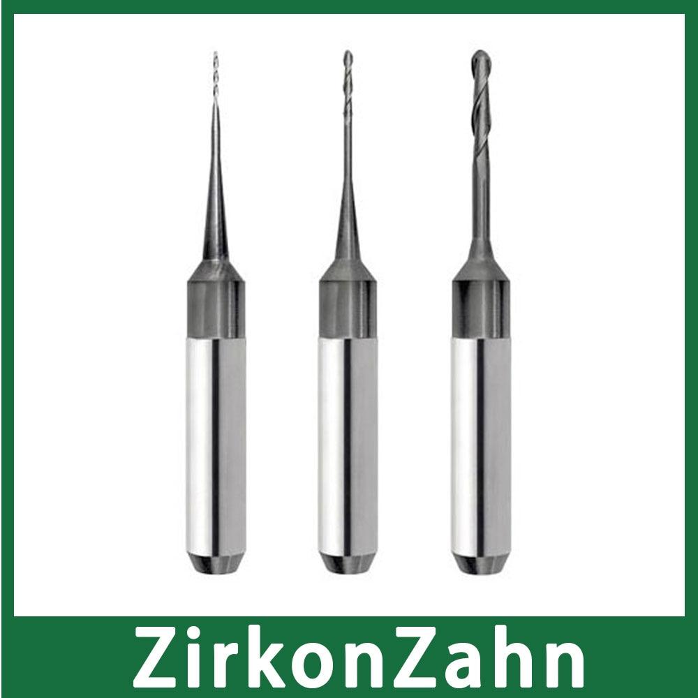ZirkonZahn 6mm Shank M1 Milling Bur DLC Coat Special For Milling Zirconia Material