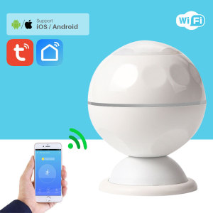 WiFi PIR Motion Sensor Alarm Detector Home Security Smart Life APP Control Notification Support Tuya Smart(China)