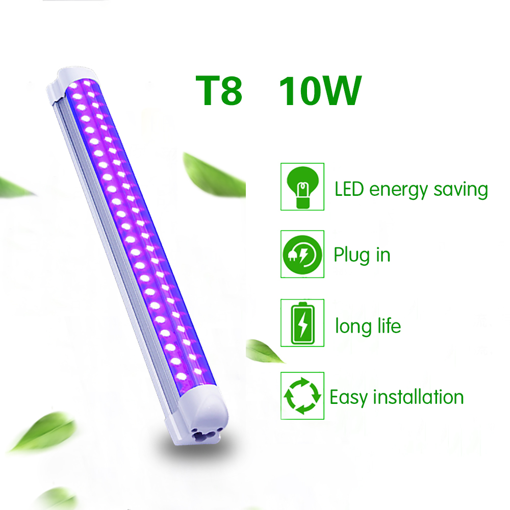 10W Disco Light UV LED Blacklight Integrated Tube UV Curing Lamp LED Violet Light Tube For Blacklight Party Body Paint