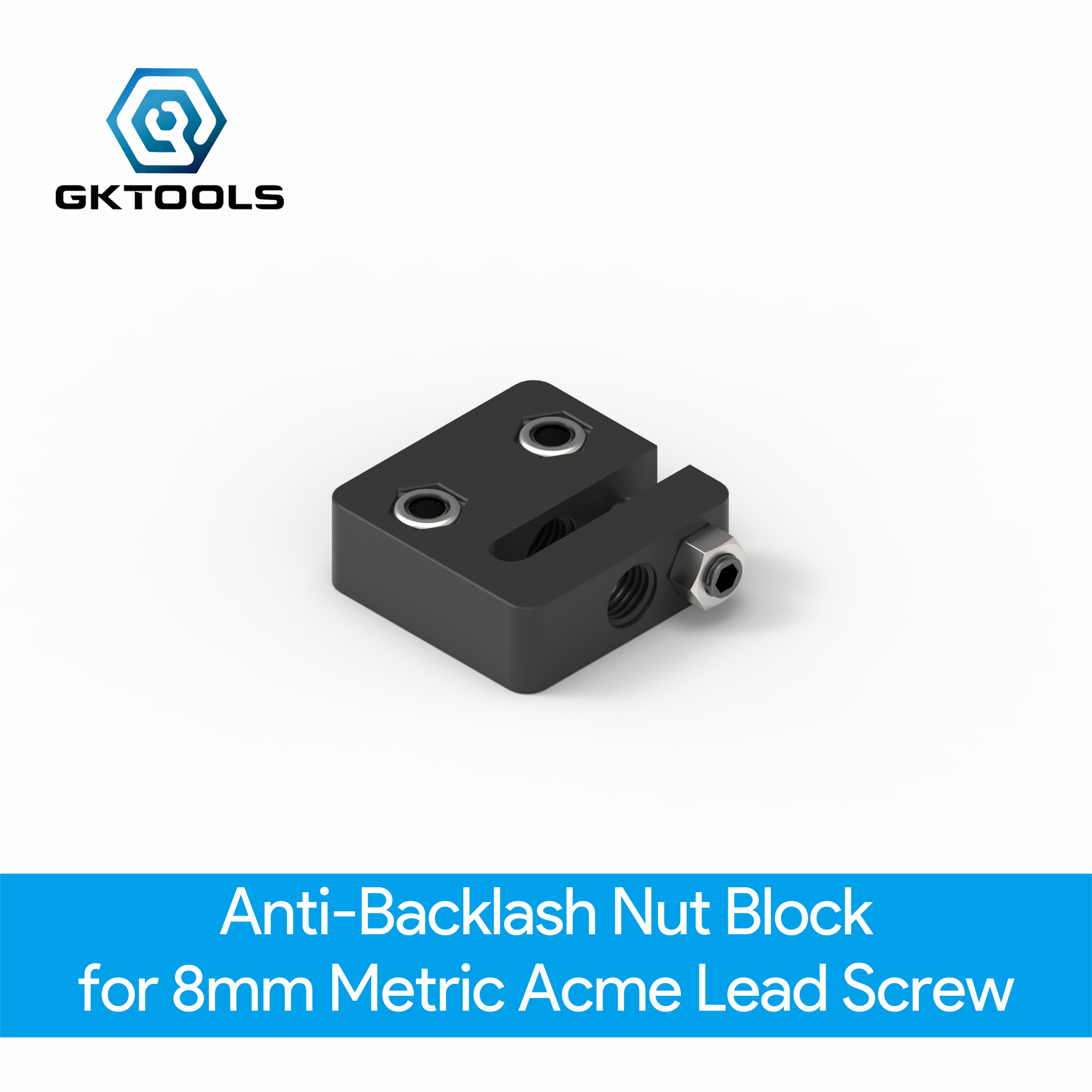 OpenBuilds Anti-Backlash Nut Block For 8mm Metric Acme Lead Screw