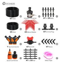 MUCIAKIE Reduced Garden Drip Irrigation Kits 1/4'' to 1/8'' Hose Watering Drop System Red Curved Arrow Drippers Micro Dropper