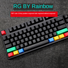10-key Color Keycaps RGBY Positive Engraving, Side Engraving Without Engraving, PBT Sublimation OEM Highly Mechanical Keyboard