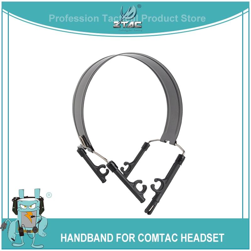 ZTAC Airsoft Tactcial Shooting Headphones Headband Head Hoop Bracket For Peltor Comtac II III Series Softair Headset Accessories